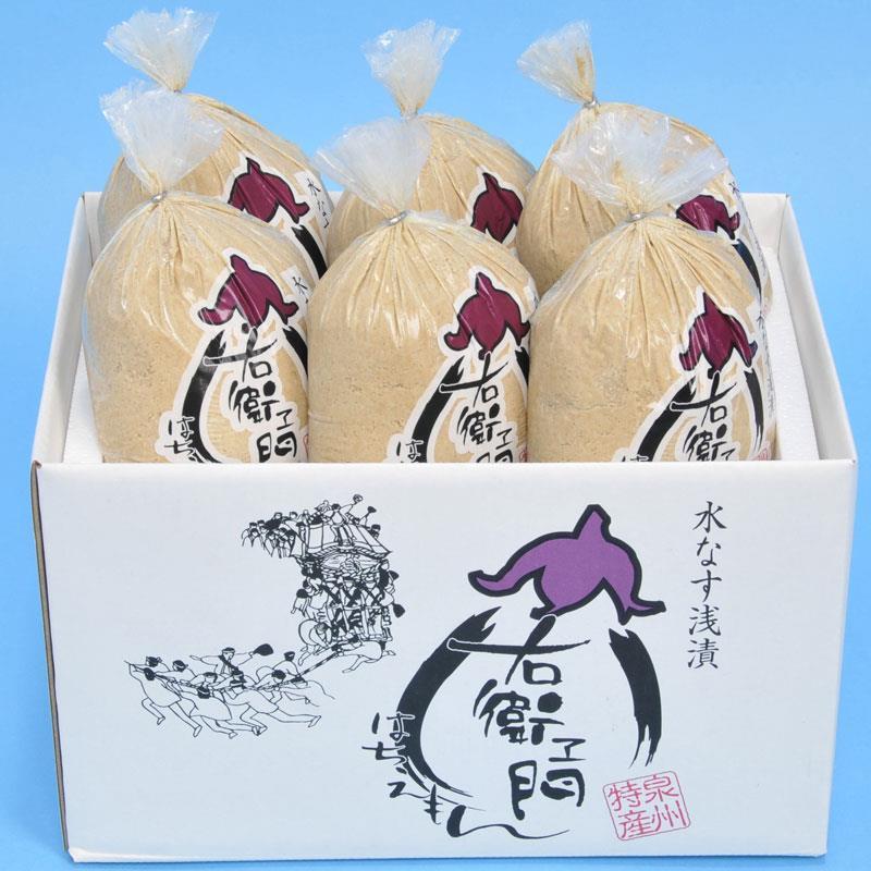 大阪泉州特産水なす漬(6個入)